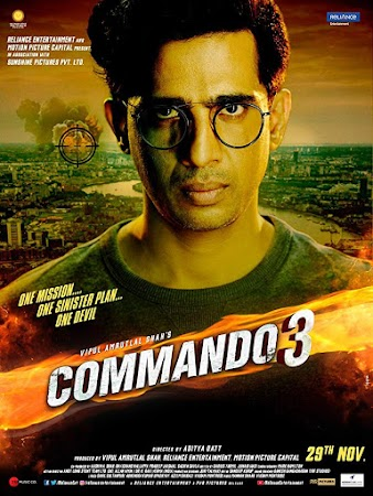 Poster Of Hindi Movie Commando 3 2019 Full HD Movie Free Download 720P Watch Online