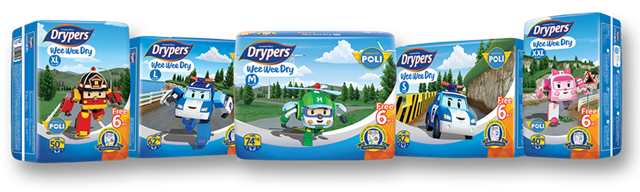 Drypers Wee Wee Dry Robocar Poli Limited Edition
