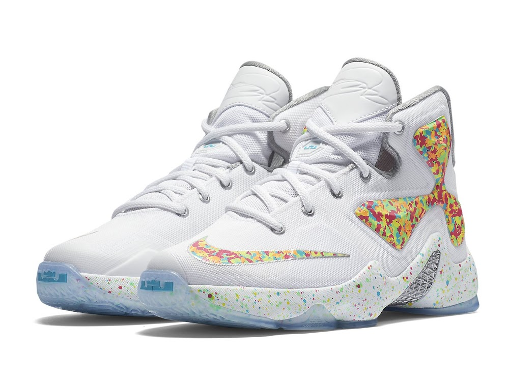 available now lebron xiii qs quotfruity pebblesquot nike