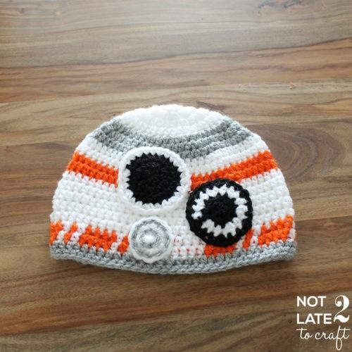 Not 2 late to craft: Barret BB8 de ganxet per en Bertrand / BB8 crochet hat for Bertrand
