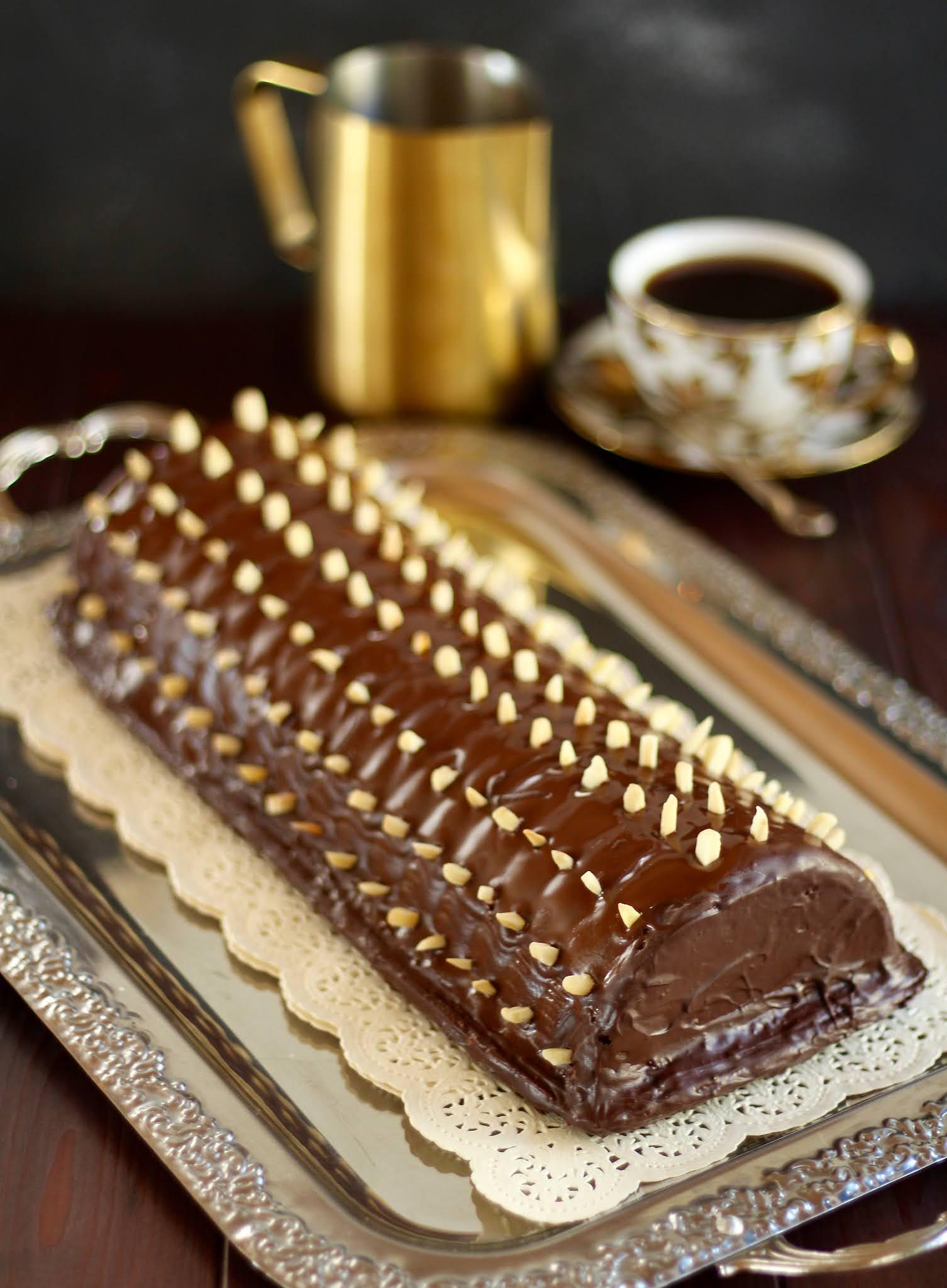 Saftigster Rehrücken Kuchen mit Schokolade und Mandeln | Rezept und Video von Sugarprincess