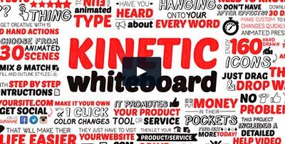 Animación simpática con texto sobre pizarra blanca y mano borrando el texto