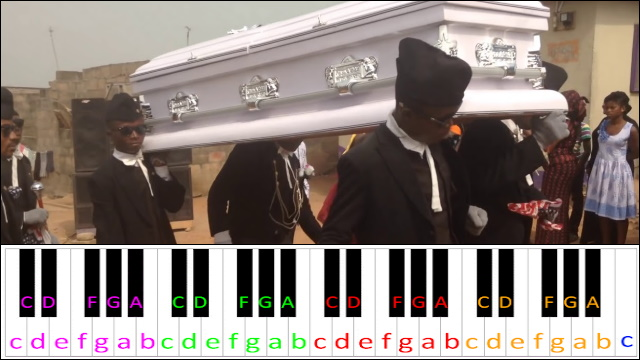 Coffin Dance Meme Piano Letter Notes