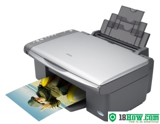 How to reset flashing lights for Epson CX4100 printer