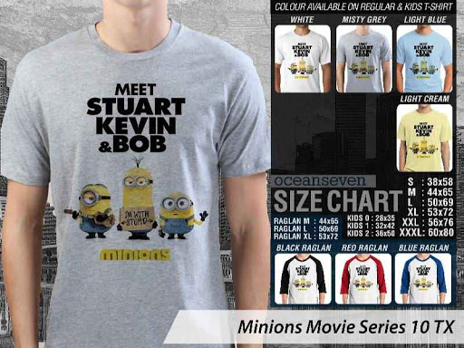 Kaos Kartun Minions Movie Series 10 distro ocean seven