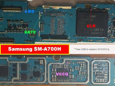 ISP PinOut Samsung SM-A700H