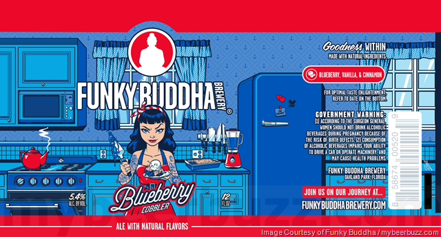 Funky Buddha Adding Blueberry Cobbler & Sweet Potato Casserole Cans