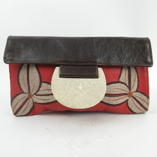 R&Y Augousti Leather & Shagreen Clutch Bag