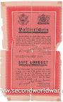 Safe conduct. leaflet van de geallieerden voor de duitse frontsoldaten.