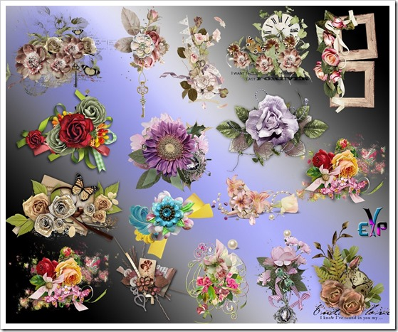 Most beautiful flowers cluster png