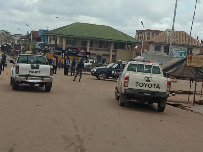 Traders Clash With Security Officials, One Dead Over Change Of Market Site in Abakaliki(Pictures)