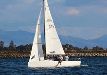 J/70 one-design speedster- sailing San Diego Hot Rum series