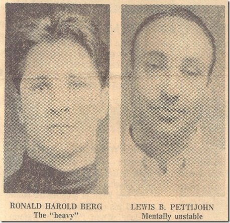 Suspects Berg and Pettijohn