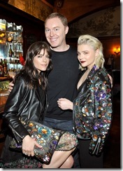 HOLLYWOOD, CA - MARCH 30:  (L-R) Actor Selma Blair, Coach Creative Director Stuart Vevers and actor Chloe Grace Moretz attend the Coach & Rodarte celebration for their Spring 2017 Collaboration at Musso & Frank on March 30, 2017 in Hollywood, California  (Photo by Donato Sardella/Getty Images for Coach)