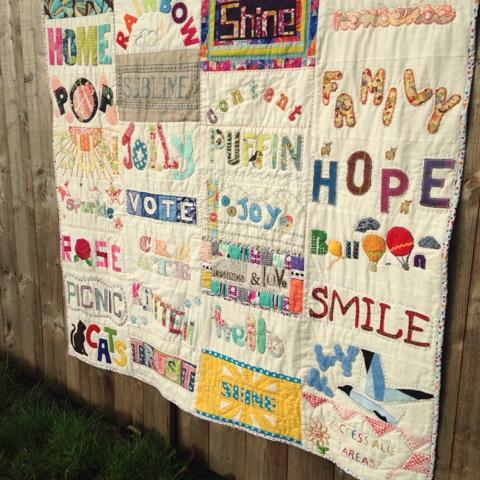 Stitch Gathering Words Quilt #1 • myBearpaw Blog by Jo Avery : quilt words - Adamdwight.com
