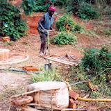 Stenen bakken in Malawi
