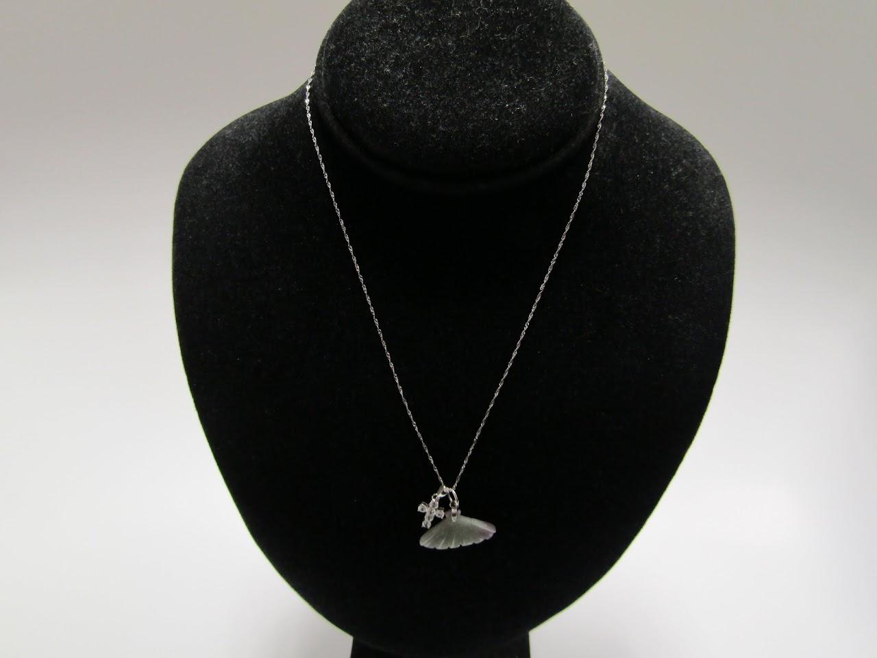 10 K Double Pendant Necklace