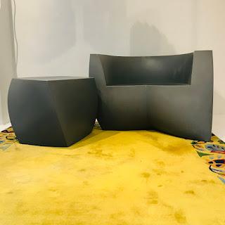 Heller + Frank Gehry Easy Chair & High Twist Cube