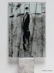 """Mensch"", Glas Schwarzlot, Holz 2005/09"