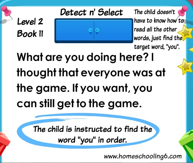 Detect n Select Reading Kingdom