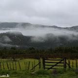 Neblina cobrindo tudo na estrada para Coihayque, Chile