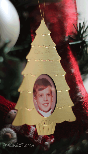 Vintage 70s photo ornament