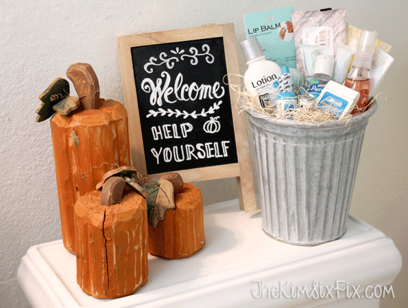 Staging Your Bathroom for Holiday Guests - The Kim Six Fix