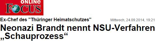 Brandt: NSU-Verfahren ist ein Schauprozeß