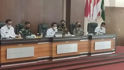 Wakapolres Ciamis Hadiri Rapat PPKM Level 3 Tingkat Kabupaten