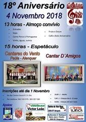18.º Aniv. Gr Cantar d'Amigos