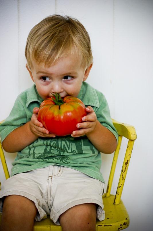 2007-09 hazel's birthday, linus, camping, tomatoes 097
