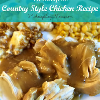 Crockpot Country Style Chicken.