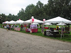 The event expo area, featuring representatives from a number of local breast cancer and women's health organizations.
