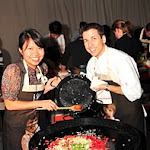 Glenn flood and student cooking paella.JPG
