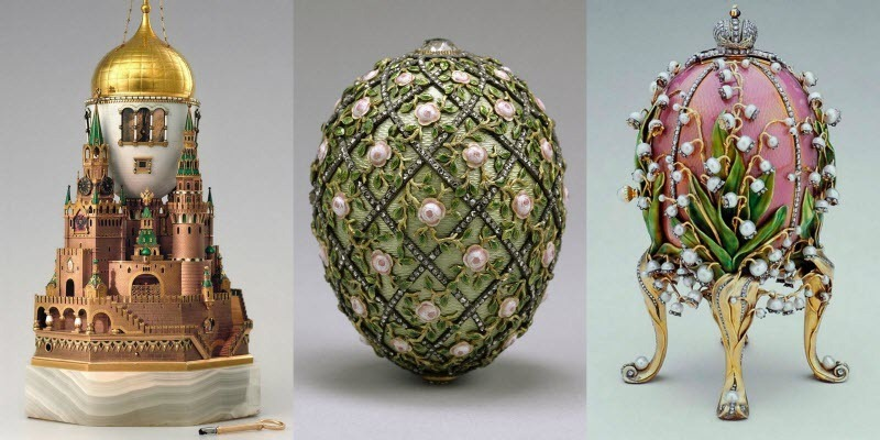 Jewelry Faberge Eggs And Russian 12
