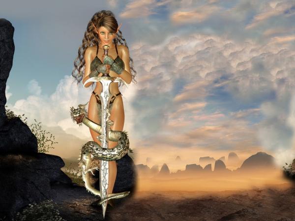 Big Snake Sword Girl, Warriors