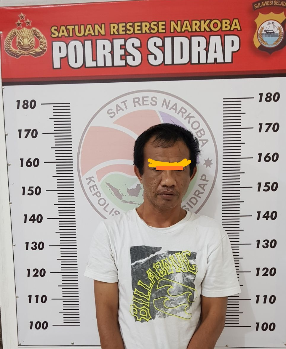 Kuasai Sabu Seorang Oknum PNS Ditangkap Aparat Kepolisian Satres Narkoba Sidrap