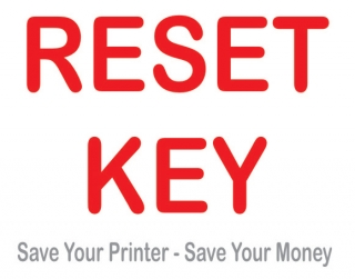 What is Epson R285 printer WIC Reset key