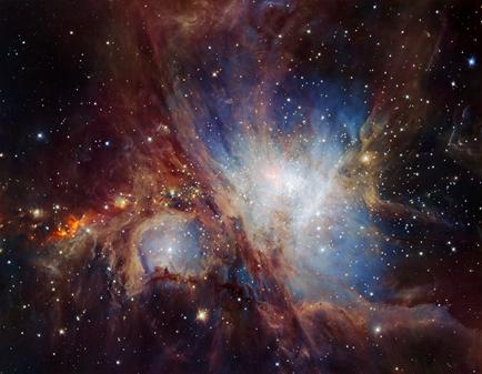 imagem infravermelha profunda da Nebulosa de Órion