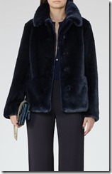 Reiss Ink faux fur coat