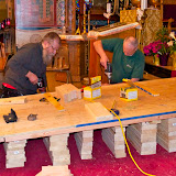 Building Ramp and getting the Scizzor Lift into the Altar