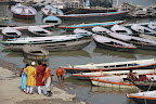 Boats on the Ganges River.
