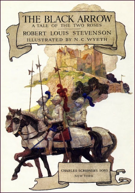N. C. Wyeth - The Black Arrow, title page illustration