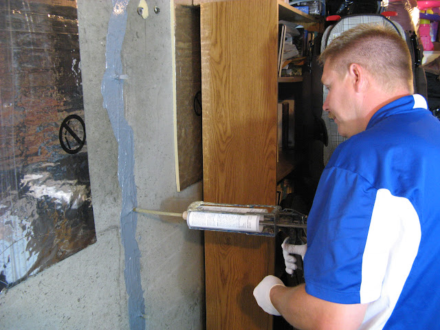 foundation crack injection materials for the repair basement repair