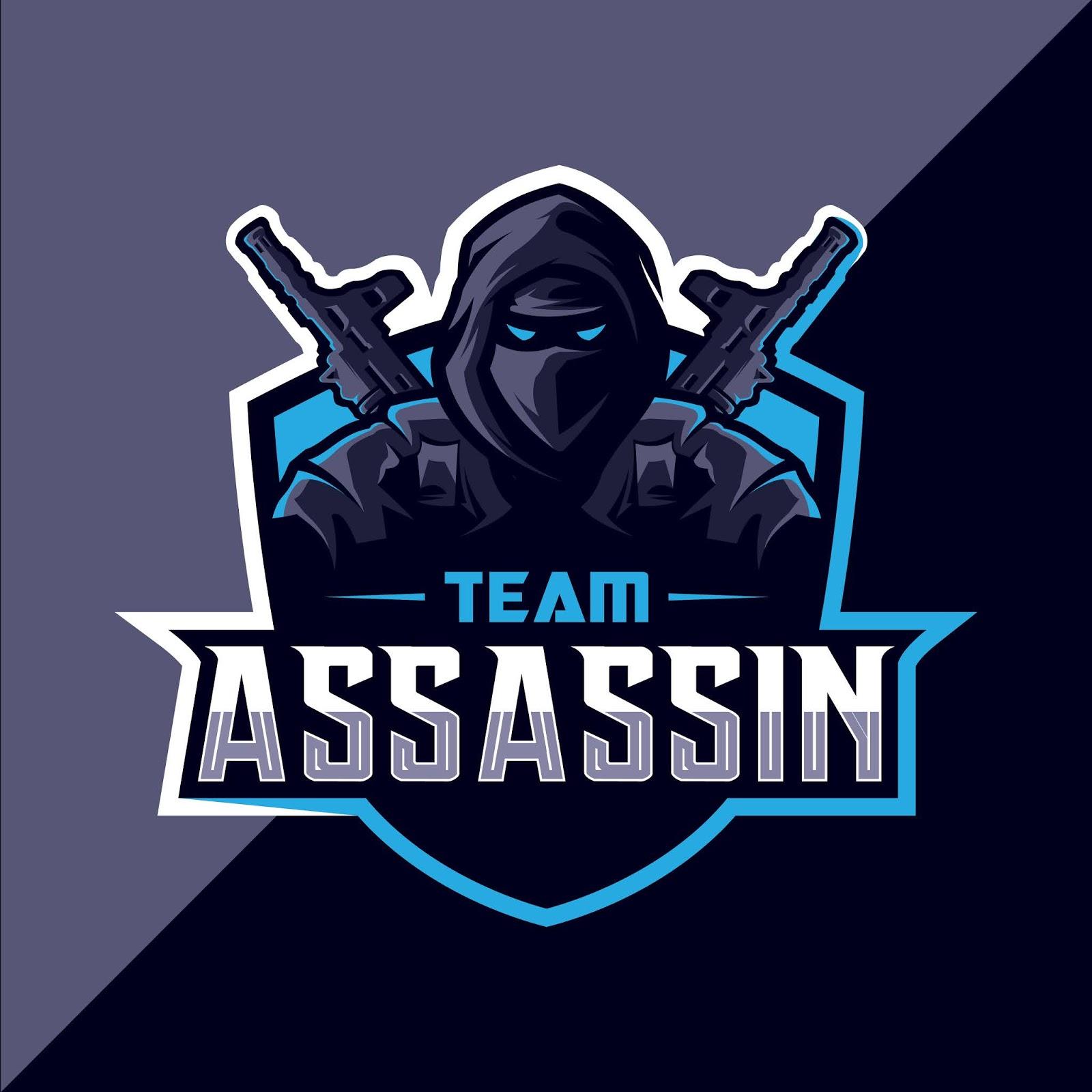 Assassin With Gun Mascot Esport Logo Design Free Download Vector CDR, AI, EPS and PNG Formats