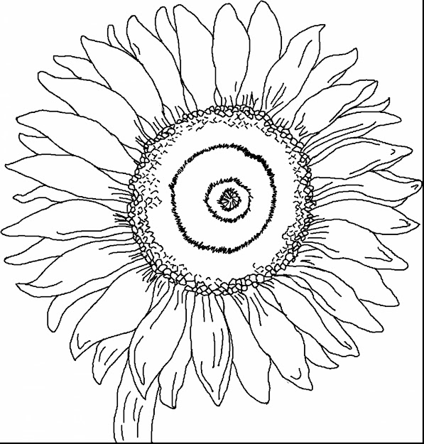 Astounding Sunflower Coloring Page With Van Gogh Coloring Pages And  Printable Van Gogh Colouring Pages