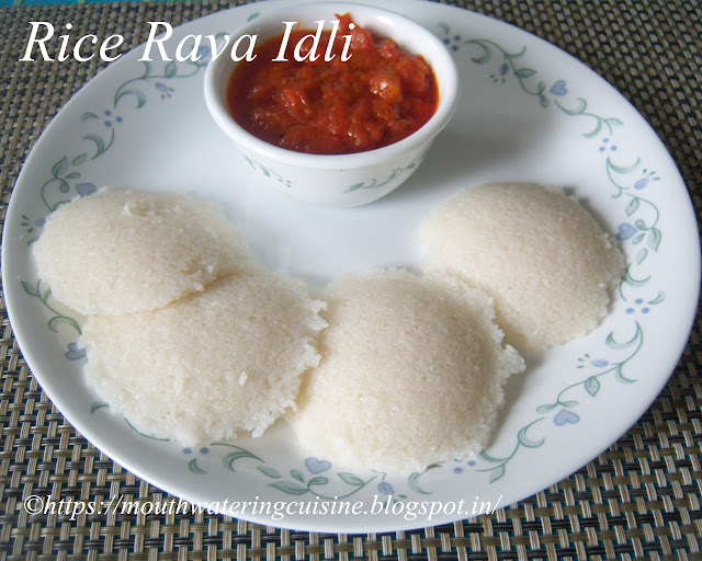Rice Rava Idli