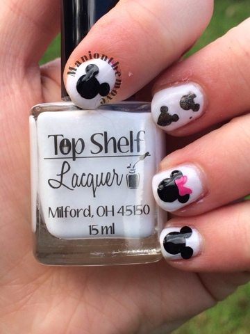 Mickey Mouse Nails with Top Shelf Lacquer