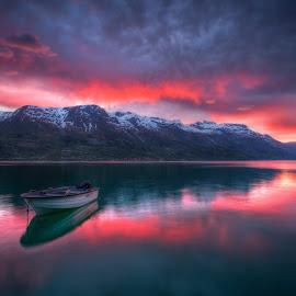 Sørfjorden by Sigbjørn Fjellheim - Landscapes Sunsets & Sunrises ( nature, sunset, norway, water, summer )