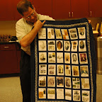 Robert Gleaves with Gleaves quilt